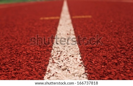 Running tracks of athletics - stock photo