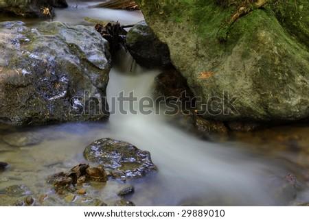 Running waterfall - stock photo