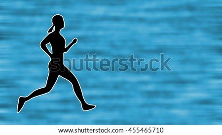 Running Woman Background