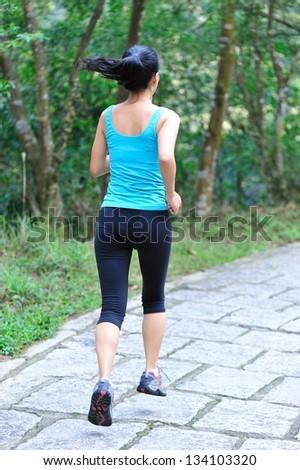 running woman outdoor - stock photo