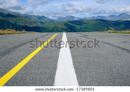 Runway for plains in the French mountains
