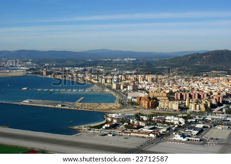runway in Gibraltar - stock photo