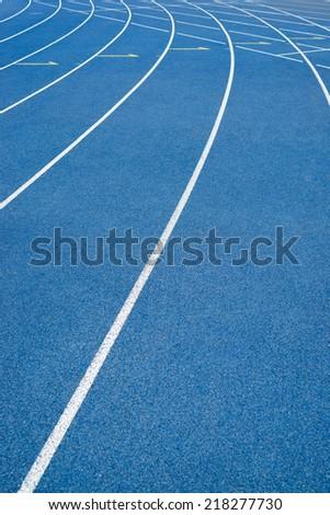 runway in stadium - stock photo
