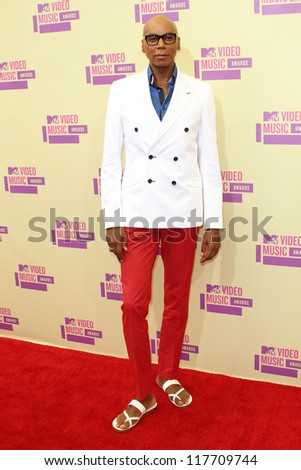 RuPaul at the 2012 Video Music Awards Arrivals, Staples Center, Los Angeles, CA 09-06-12 - stock photo