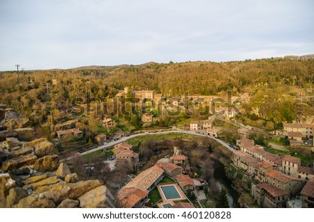 rupit i pruit is a little town in barcelona catalonia spain
