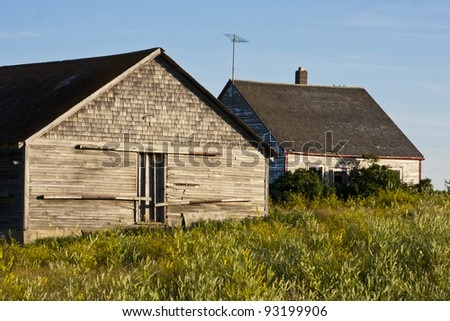 Rural abandoned homestead on the Canadian prairies