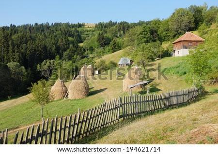 rural area of Kamena Gora Mountain, Serbia    - stock photo