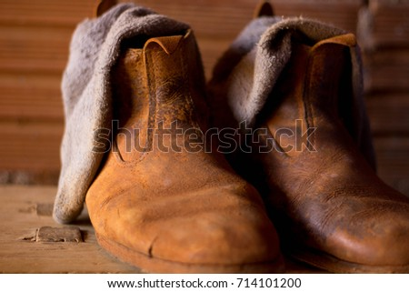 Rural boots, brown.
