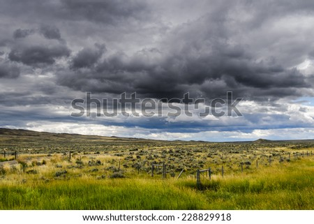 Rural farmland in northern Montana - stock photo