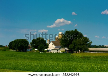 Rural Farmland Scene - stock photo