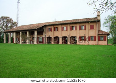 rural house in the Veneto countryside