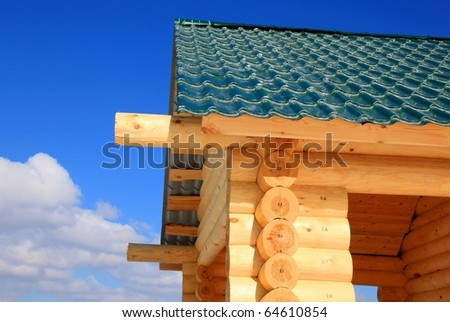 Rural house under construction - stock photo