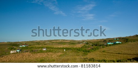 rural housing in south africa - stock photo