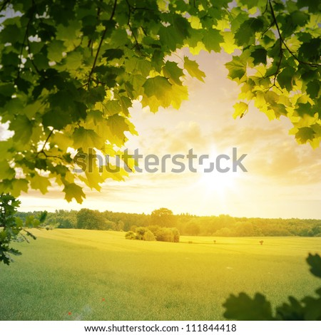 Rural idyll in the late summer - stock photo