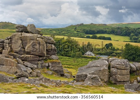 rural landscape of Land's End in Cornwall England, the most westerly point of England on the Penwith peninsula, Cornish coast - stock photo