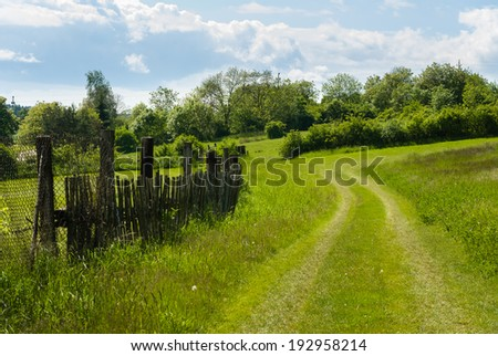 Rural Landscape with Trail - stock photo