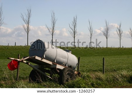 Rural landscape with watertank