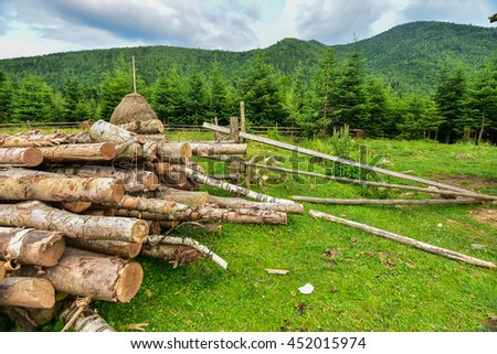 Rural mountain landscape - stock photo
