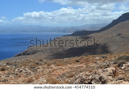 Rural Mountain View at Balos, Crete