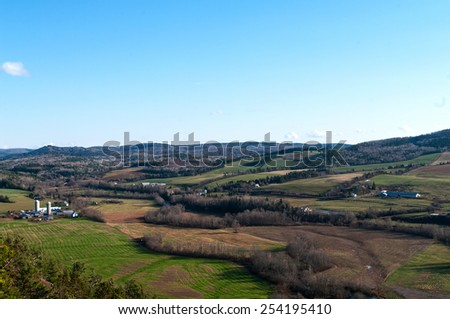 Rural New Brunswick farmland near Sussex - stock photo