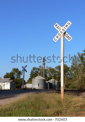 Rural Railroad Crossing