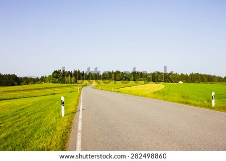 Rural Road in Germany, Europe - stock photo