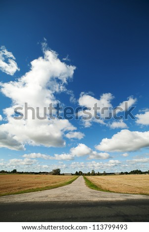 Rural road in nice day.