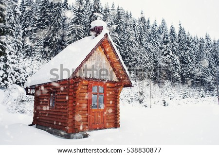 Log cabin stock images royalty free images vectors for Building a mountain cabin