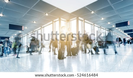 Rush Hour at a airport. germany