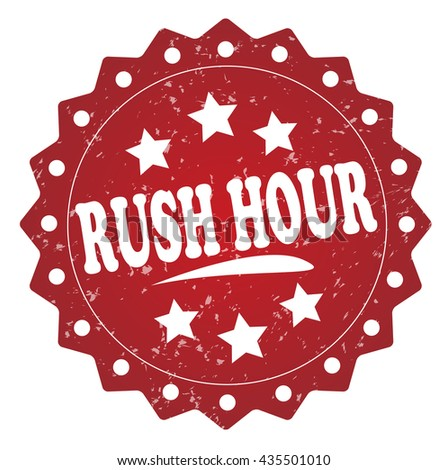 rush hour grunge stamp - stock photo