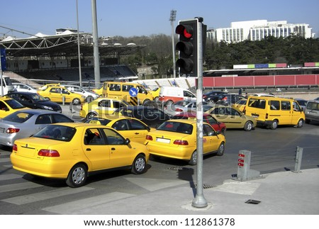 Rush hour in Istanbul - stock photo