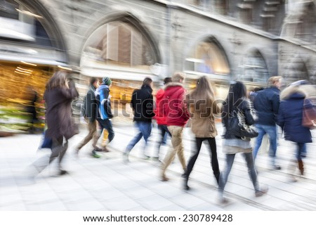 rush hour in the city - stock photo