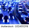 Rush hour in the late afternoon. - stock photo