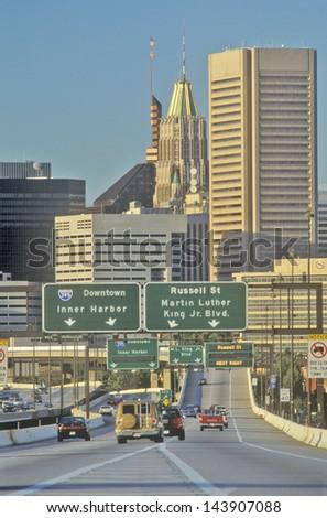 Rush Hour Traffic, Baltimore, Maryland - stock photo
