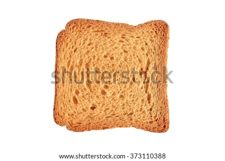 Rusk bread loaf isolated on white