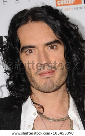 Russell Brand at 48th New York Film Festival Centerpiece Premiere of THE TEMPEST, Alice Tully Hall at Lincoln Center, New York, NY October 2, 2010 - stock photo