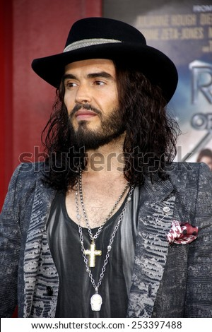 "Russell Brand at the Los Angeles premiere of ""Rock of Ages"" held at the Grauman's Chinese Theater in Los Angeles, California, United States on June 8, 2012. - stock photo"