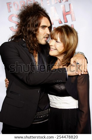 """Russell Brand attends the World Premiere of """"Forgetting Sarah Marshall"""" held at the Grauman's Chinese Theater in Hollywood, California, United States on April 10, 2008.  - stock photo"""