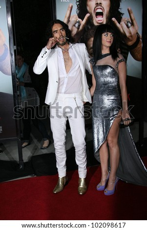 "Russell Brand, Katy Perry at the ""Get Him To The Greek"" Los Angeles Premiere, Greek Theater, Los Angeles, CA. 05-25-10"