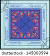 RUSSIA - CIRCA 2013: A stamp printed in Russia shows the Pavlovsky Posad kerchief, circa 2013 - stock photo