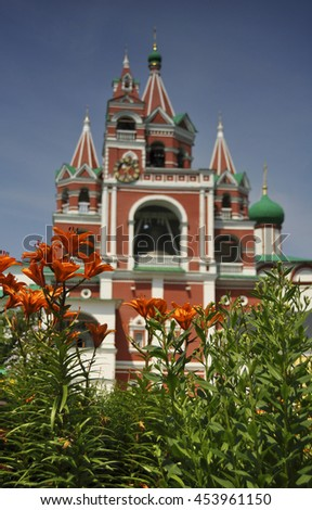 Russia city of Zvenigorod Moscow region monastery beauty architecture