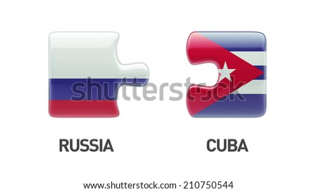 Russia Cuba High Resolution Puzzle Concept