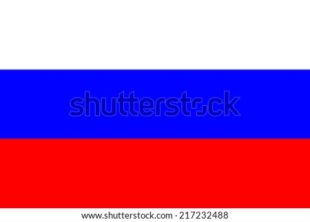 Russia, Flag - stock photo