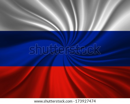 Russia  flag and abstract background - stock photo