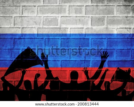 Russia Flag background - stock photo