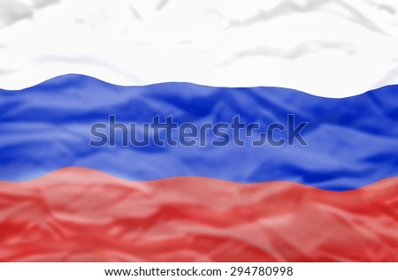Russia flag. Wavy flag of Russia fills the frame. - stock photo