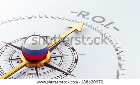 Russia High Resolution ROI Concept - stock photo