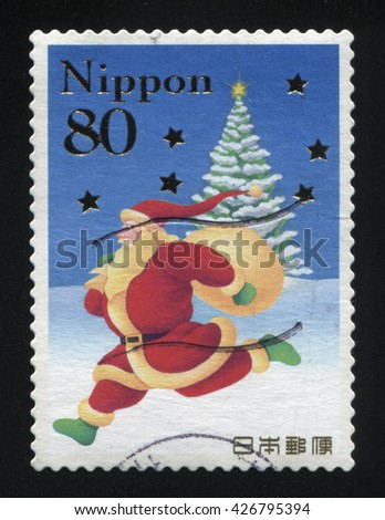 RUSSIA KALININGRAD, 22 APRIL 2016: stamp printed by Japan shows christmas, circa 2012