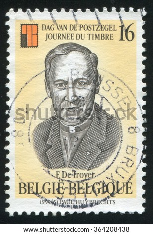 RUSSIA KALININGRAD, 26 OCTOBER 2015: stamp printed by Belgium, shows Frans de Troyer, circa 1995