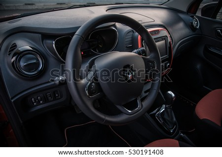 RUSSIA, MOSCOW - JULY 25, 2016. RENAULT KAPTUR / CAPTUR crossover car, interior view